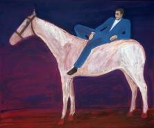 Prints valgel hobusel